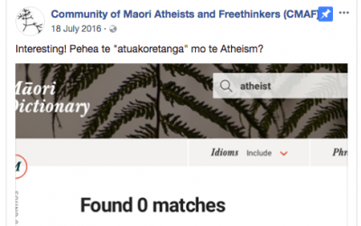Māori atheists Te Henare & Eru Hiko-Tahuri